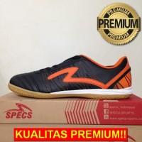 ANEKASEPATU Sepatu Futsal Specs Horus IN Black Orange 400313 Original