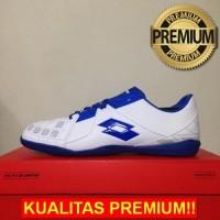 ANEKASEPATU Sepatu Futsal Lotto Squadra IN White Dawn Blue L01040012 O