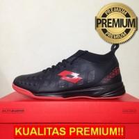 ANEKASEPATU Sepatu Futsal Lotto Energia IN Black Solar Red L01040009 O