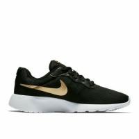 Sepatu Nike Tanjun Black White Gold Hitam Putih Emas