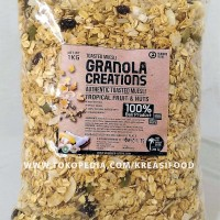 Granola Creation Tropical Fruit & Nuts 1 Kg toasted muesli sereal