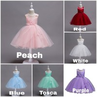 BAJUKIDDIE SALLY DRESS .. DRESS ANAK PEREMPUAN PESTA IMPORT MURAH gaun - 110, Tosca