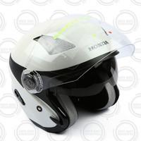 Honda ORI Helm / Helmet Luxury Stylish Helmet Half Face - WHITE
