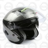 Honda ORI Helm / Helmet Luxury Stylish Helmet Half Face - Silver