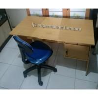 Paket Meja Kantor + Kursi Indachi Hadrolik