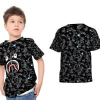 Kaos Tshirt Anak Fullprint Space Bape Shark