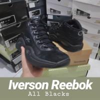 Sepatu Basket Iverson Reebok All Black