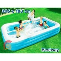 Kolam Renang 54009 Anak Bestway Kotak Biru Jumbo 3M