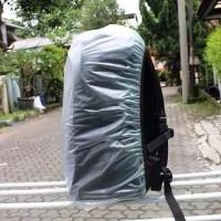 COVERBAG TRANSPARAN POLOS - RAIN COVER BAG ANTI AIR TAS RANSEL