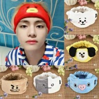 Official BT21 Headband Bandana KPOP BTS Cartoon Lovely Sweet Cotton