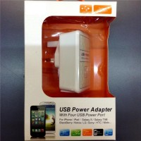 Power Adaptor Charger 4 USB Port