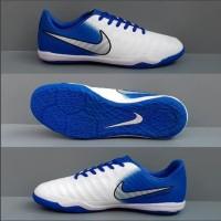 Sepatu futsal nike tiempo blue white