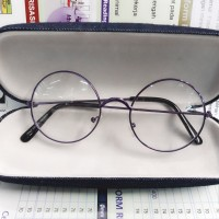 Kacamata Bulat Korea Ungu/Frame bulat/kacamata fashion/frame kacamata - Ungu