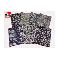 Doby abu hitam bahan kain batik katun sarung baju kebaya batiksongket