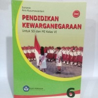 Buku BSE Pendidikan Kewarganegaraan SD/MI kelas 6