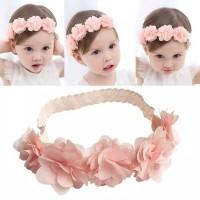 Bandana Fashion Bayi Model Bunga Hiasan Rambut Anak- Baby CROWN FLOWER