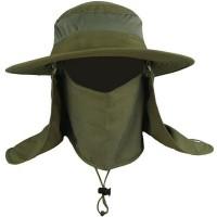 Topi Rimba Topi Mancing Topi Gunung Topi Outdoor Topi Uv Topi Fullface - Hijau Army