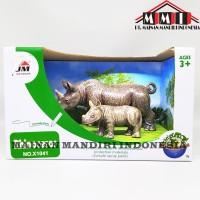 Mainan Animal Kingdom X1041 Rhinoceros Window Box (Badak) - X1041