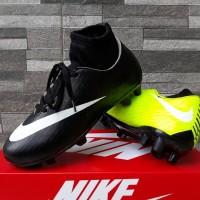 Sepatu Sepak Bola Anak Nike Skin High Hitam Hijau List Putih Import