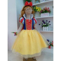 Baju Anak Dress Kostum Princess Snow White Bludru Rok Sifon Glitter 03