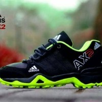 Sepatu pria adidas ax2 hitam hijau