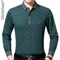 Lengan Panjang Kebugaran Polo Shirt Pria Camisa Masculino Kasual Bung