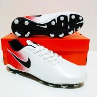 MURAH BERKUALITAS Sepatu Bola Nike Tiempo Legend FG (White Red)