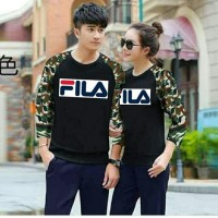 Baju Couple Lengan Panjang Couple Blouse Kimono Army Fila Lovee