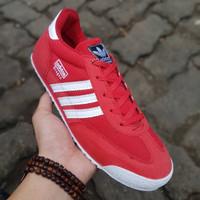 Sepatu Adidas Neo Dragon France / White Red / Merah Running Olahraga