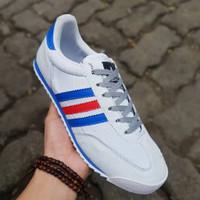 Sepatu Adidas Neo Dragon France / White Blue / Putih Running Olahraga