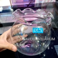 FISH BOWL SHELLA 1.5 liter / aquarium bulat / toples ikan
