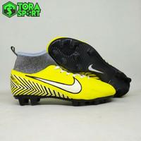 Sepatu Bola Anak Nike Mercurial Neymar Kuning Strip Hitam List Putih