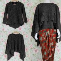 Baju Setelan Batik / Kebaya Kutubaru Rok Batik Jesyca 07 Set Hitam