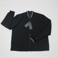 Tommy Hilfiger Bomber Jacket Black Striped water and wind resistant.