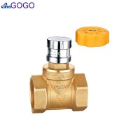 Central heating locking ball valve DN32 1-1/4inch Magnetic anti-theft