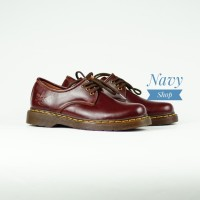 Sepatu Boots Pria Docmart 3 hole Boot kulit asli N-1060 - Hitam, 39