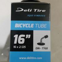 Ban dalam sepeda listrik selis 16 x 2.125 deli tire pentil bengkok