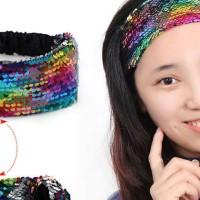 Bando kain sequin/manik reversible/berubah warna