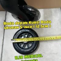 SPERPART RODA DEPAN KURSI RODA TRAVEL BAN MATI UKURAN 5 inch 12 5 cm