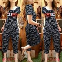 Baju Wanita Pakaian Perempuan Setelan Fila Army Ladies