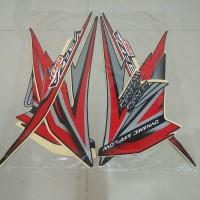 Stiker Bodi & Lis Body & Striping Verza Hitam Merah