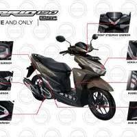 (Vario 125 eSP / 150 eSP) Honda OEM Paket Aksesoris KOMPLIT - CHROME
