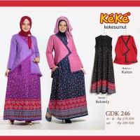 Kekesumut GDK 246 Fashion Baju Muslim Gamis syari Keke Busana Original