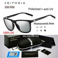 VEITHDIA Kacamata Photocromic Polaroid Anti Silau UV Siang Malam 6108