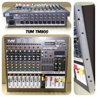 MIXER AUDIO TUM 8 CHANNEL TM-800 PROFESIONAL GARANSI RESMI