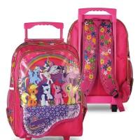 tas ransel sekolah/tas troli/tas roda/tas koper/tas little pony anak
