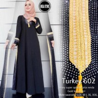 Gamis Hitam/ Abaya Turkey 602 by Mega Store