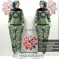 Baju Wanita Pakaian Perempuan Setelan Adidas Mariana Army