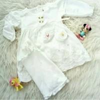 Gamis Bayi Baru Lahir Baju Muslim Bayi Perempuan Putih