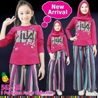 Little Pineapple Baju Muslim Anak Celana Kulot 563-10